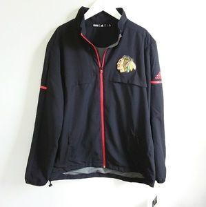 NWT Adidas NHL Chicago Blackhawks Light Jacket